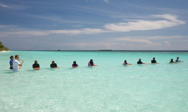 soneva swimming