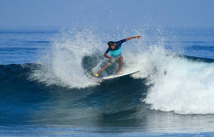 Maldives' Ammadey shines at Indian Open of Surfing championship