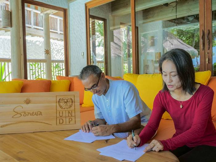 Soneva Fushi signs up with UNDP to support SDGs in Maldives