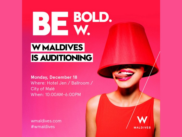 W Maldives to 'audition' for new talents on Monday