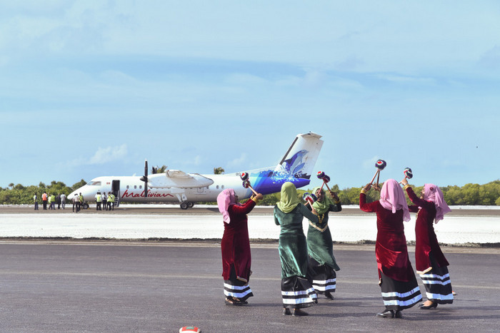 New airport in Maldives north welcomes maiden flight