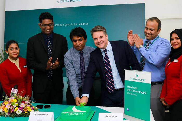 Cathay Pacific celebrates five years of Maldives service
