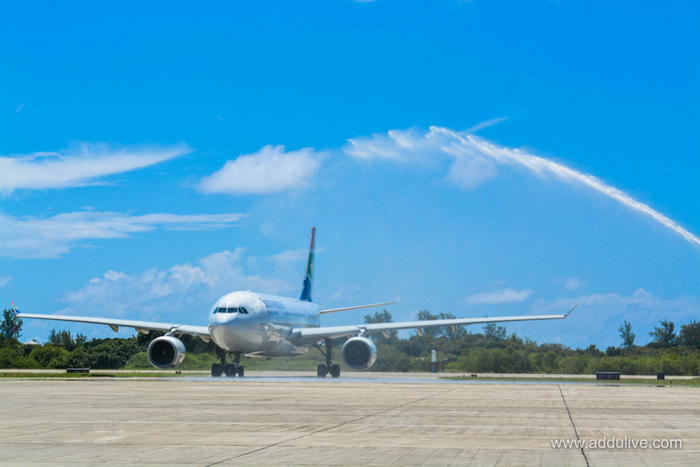 South African Airways begins direct service to Maldives south