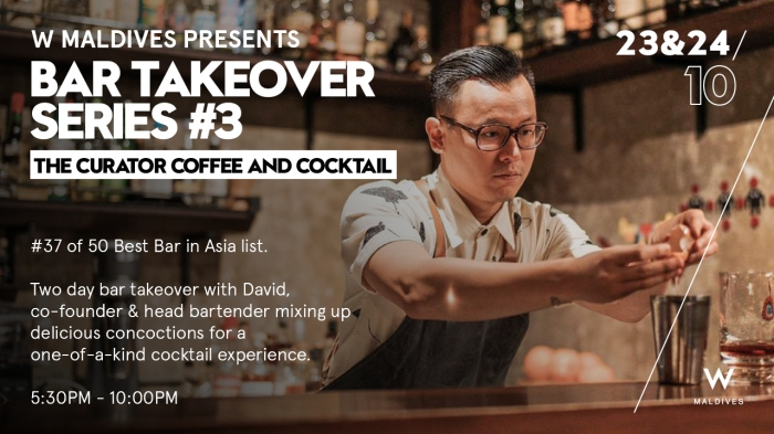 W Maldives to host bar takeovers with David Ong, Victoria Chow