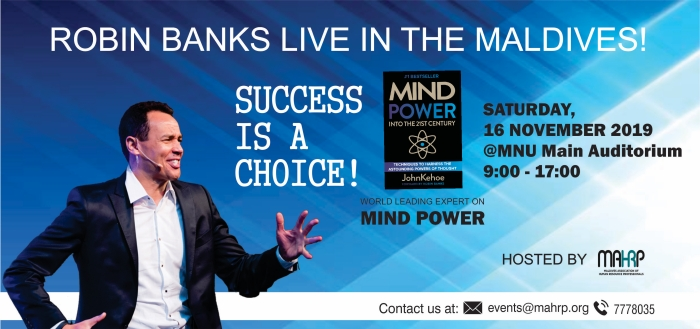MAHRP to host thought leadership forum with world-renowned motivational speaker Robin Banks