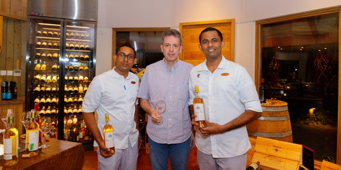 Milaidhoo Maldives hosts degustation dinner with renowned Chateau Musar wines