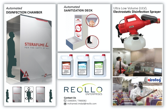 Reollo Enterprises introduces disinfection, sanitisation products for 'new normal'