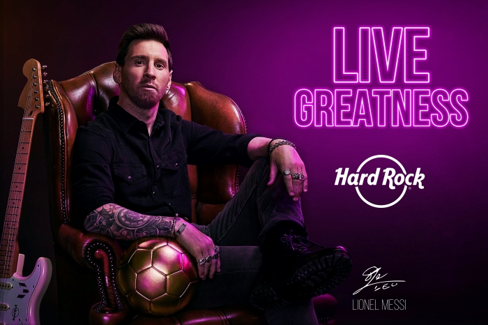Hard Rock begins year-long 50th anniversary celebration, partners with football legend Messi